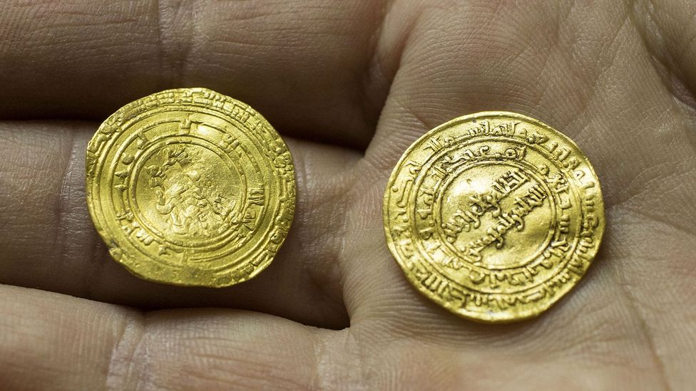 The coins were minted in the far-flung cities of Cairo, Egypt, and Palermo, Sicily (Credit: JACK GUEZ/Getty Images)