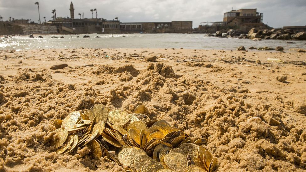 As of now, more than 2,000 coins have been found in Caesarea's ancient harbour (Credit: JACK GUEZ/Getty Images)