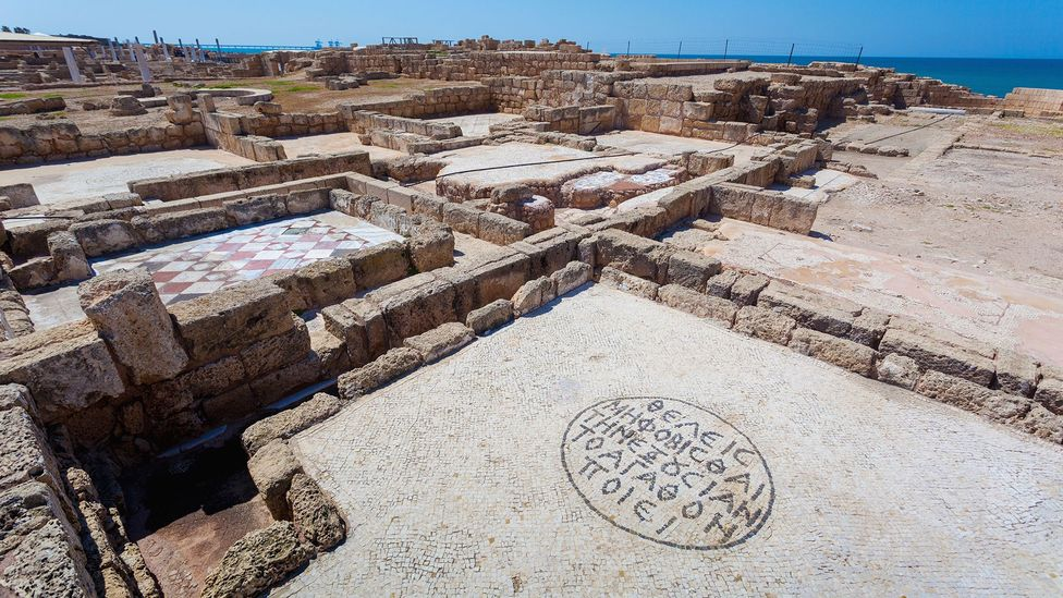 The first buildings in Caesarea were erected in the 4th Century BC (Credit: Reynold Mainse/Getty Images)