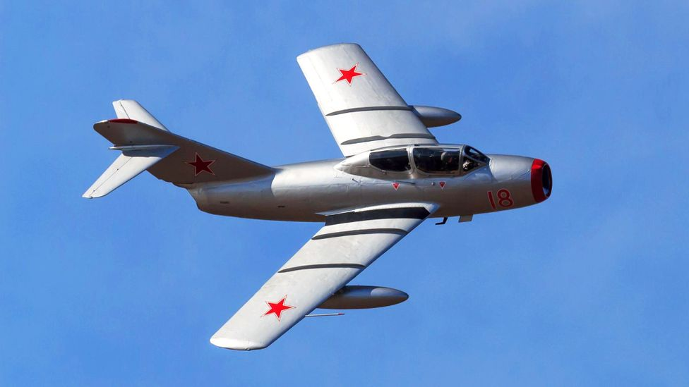 A MiG-15 at an air show (Credit: Alamy)