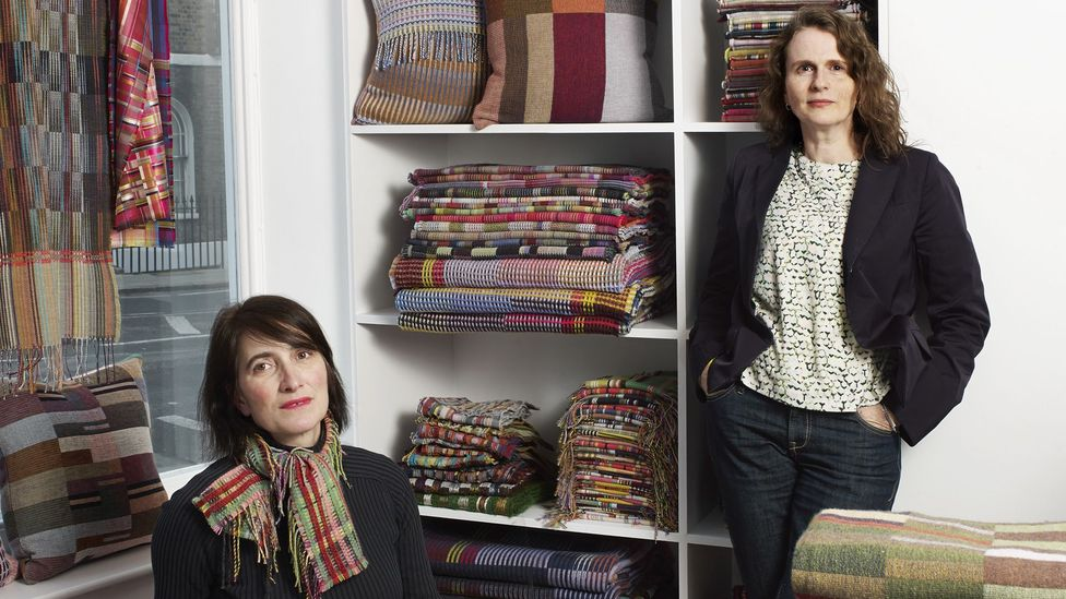 Textile designers Emma Sewell and Harriet Wallace-Jones met at art college, then joined forces to form Wallace Sewell