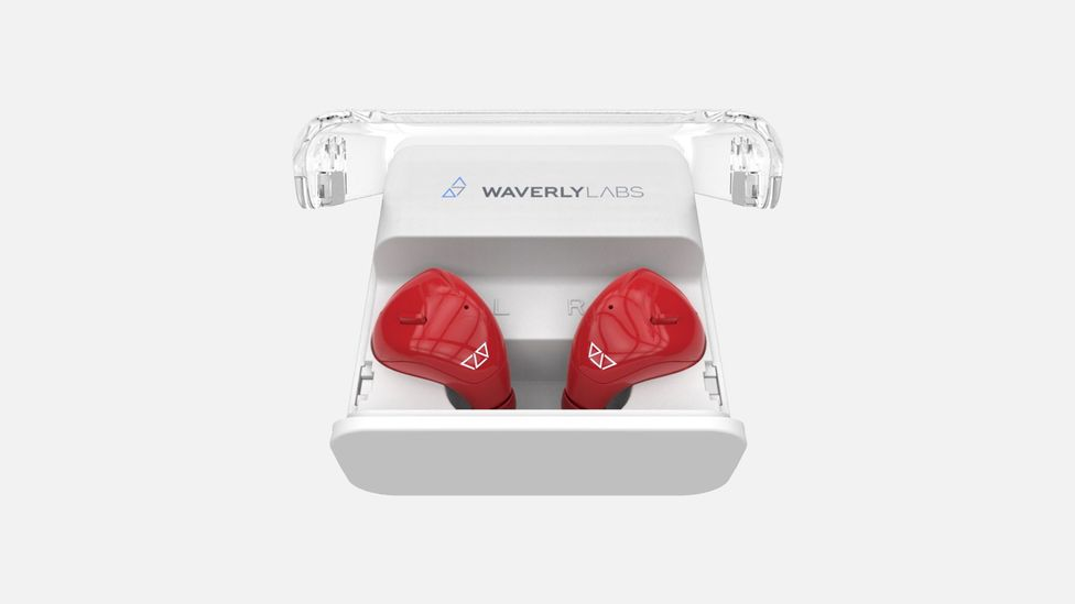 As well as translating between languages, the ear pieces can be used for for streaming music and to listen to calls and notifications (Credit: Waverly Labs)