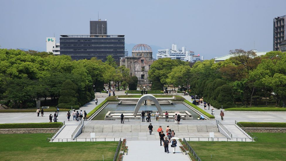 Visitors say they experience a spike in their levels of empathy and compassion known as 'the Hiroshima Effect' (Credit: Hiroshi Higuchi/Getty Images)