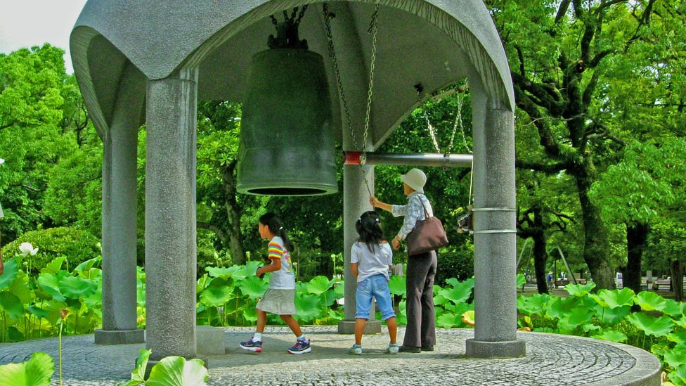 All Peace Memorial Park visitors are welcome to ring the Peace Bell (Credit: Angeles Marin Cabello)