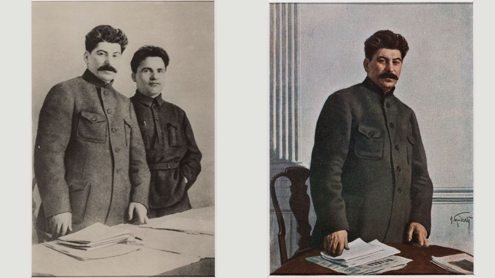 By 1949, only one person remained next to Stalin (Credit: The David King Collection at Tate)