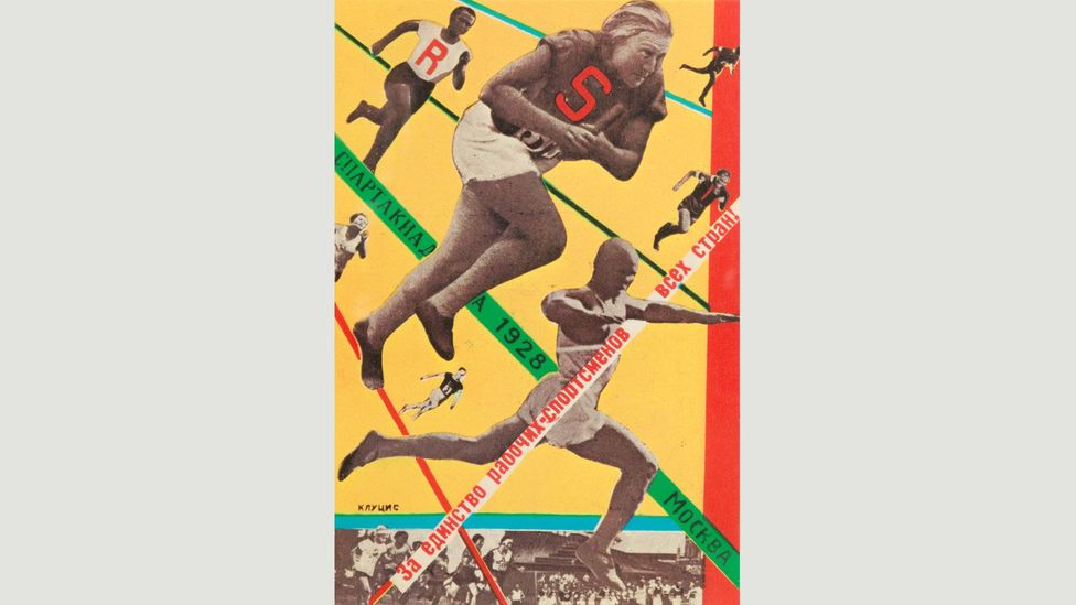 Moscow All-Union Olympiad (1928) by Gustav Klutsis, who was one of the first artists in the USSR to make photomontages (Credit: The David King Collection at Tate)