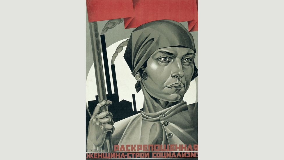 Emancipated Woman: Build Socialism! (1926) by Adolf Strakhov asserts confidence in an industrial future (Credit: The David King Collection at Tate)