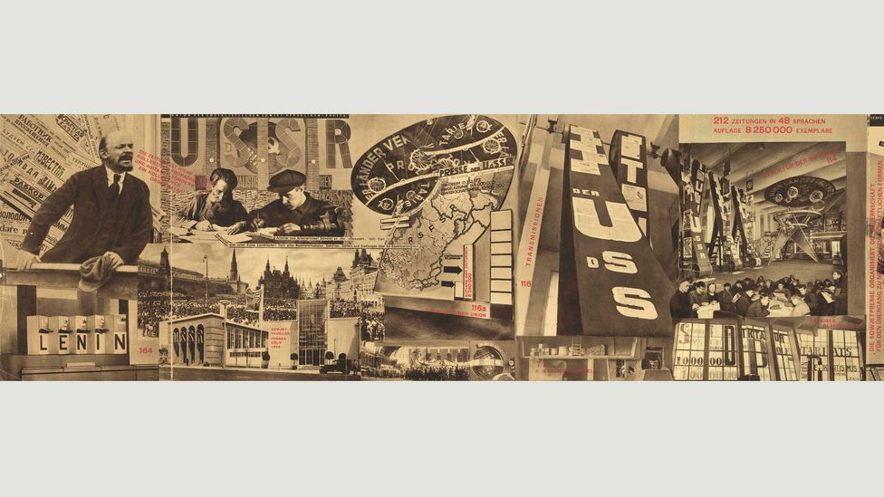 The Task of the Press is the Education of the Masses (1928), by two prominent Soviet artists, El Lissitzky and Sergei Senkin (Credit: The David King Collection at Tate)