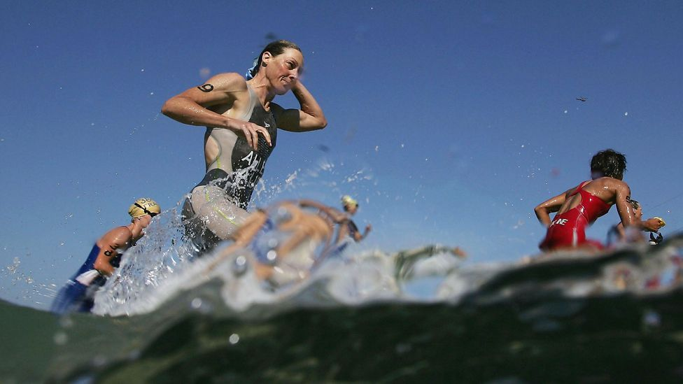 Triathlon and Ironman contests are becoming popular as corporate fitness challenges (Credit: Getty Images)