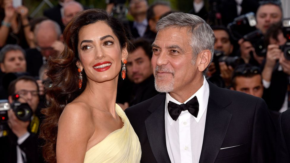 Prominent human rights lawyer Amal Clooney and her actor husband George (Credit: Getty Images)