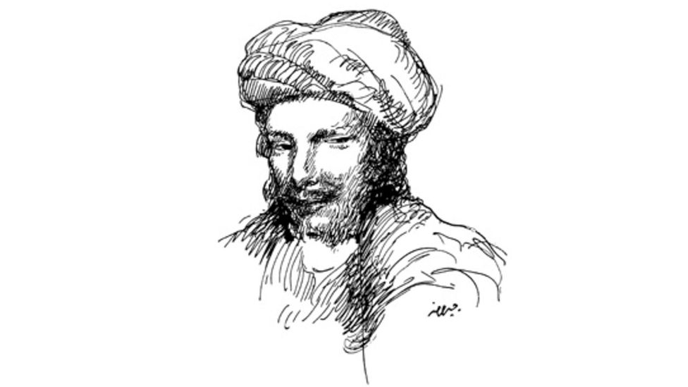Lebanese poet and artist Khalil Gibran sketched an image of Abu Nuwas in 1916. (Credit: Alamy)