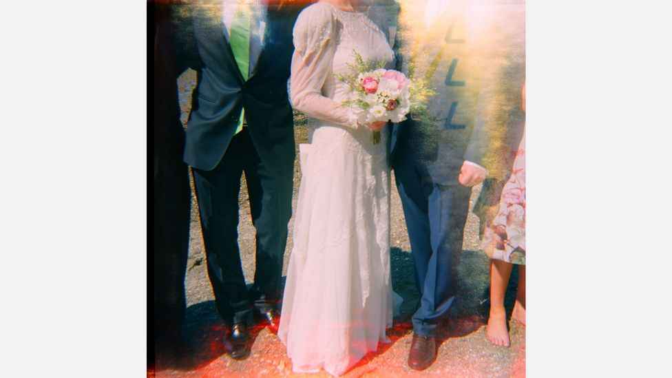 British photographer Emma Case who offers wedding shots taken with a Holga for couples who would like an analogue flavor to their wedding photos (Credit: Emma Case)