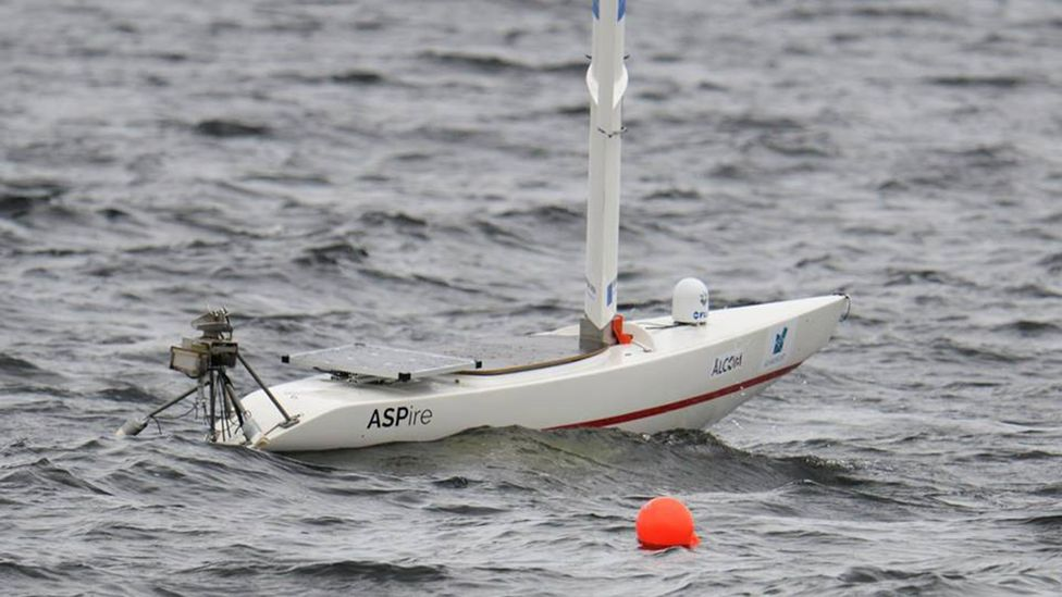 The boats had to compete in the same kind of events that would test human sailors (Credit: Aland Sailing Robots)