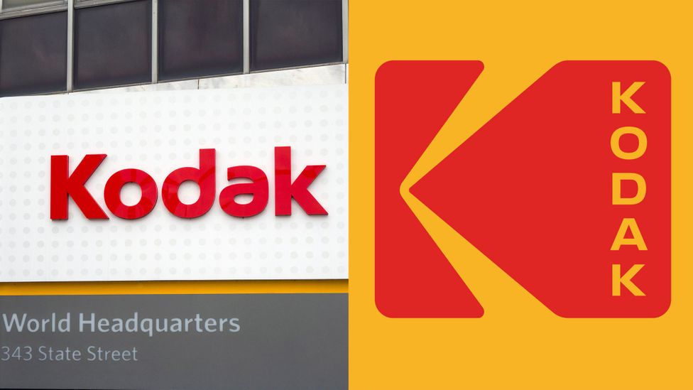 Kodak has tried to capture the 'holy grail' – nostalgia – by reverting to a retro 1970s-style version of its logo (Credit: Alamy/Kodak)