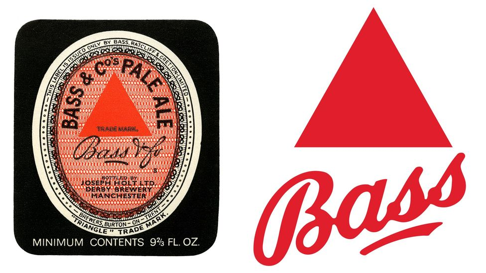 The simple red triangle of Bass's logo endures, more than 150 years later (Credit: Alamy/AB InBev)