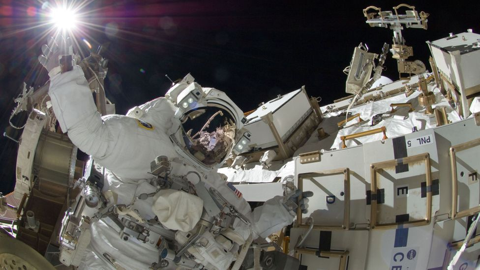 Away from Earth, astronauts are bombarded with cosmic radiation, and begin to suffer ailments caused by low gravity (Credit: Alamy)