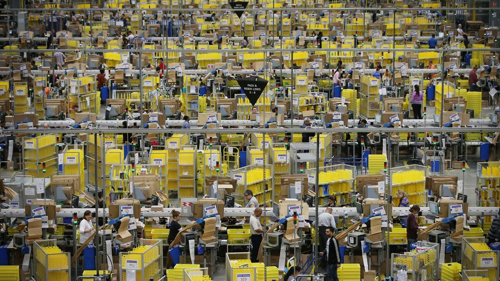 Amazon workers preparing orders for dispatch ahead of Black Friday sales (Credit: Getty Images)