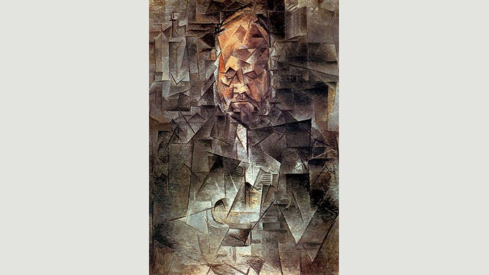 In Portrait of Ambroise Vollard (1910), Picasso paints the art dealer in shards, fragmenting his face (Credit: Pushkin Museum, Moscow, Russia/Bridgeman Images)