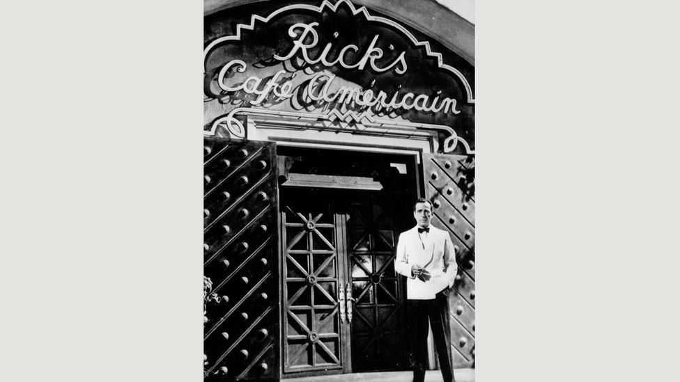 The name of Rick's café prompts the viewer to ask what 'American' means (Credit: Alamy)