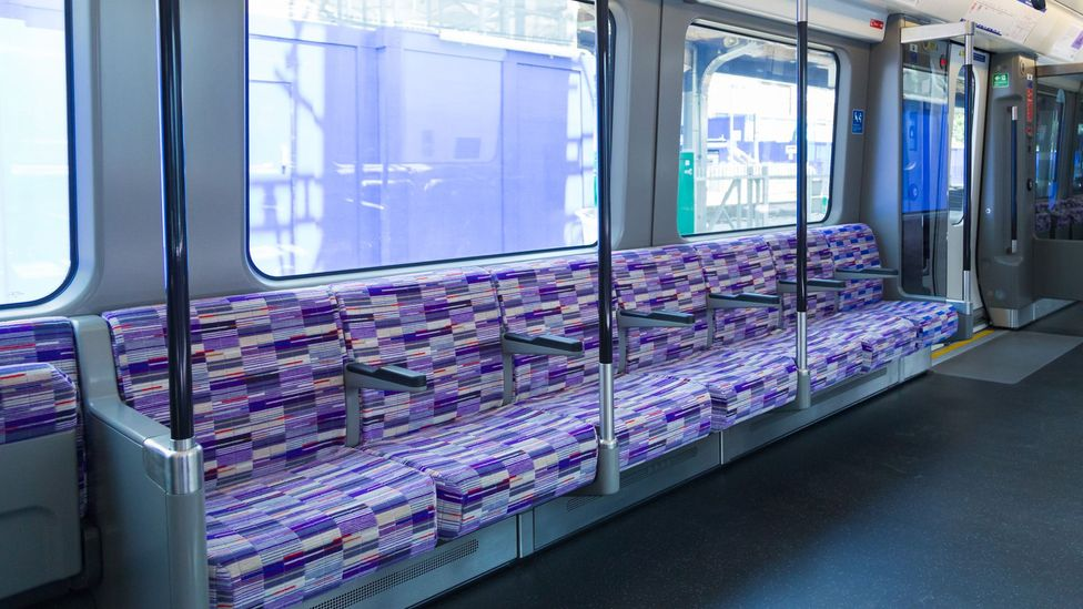 Wallace Sewell create the designs for the seating on most of London's transport, including the new Crossrail (Credit: Crossrail)