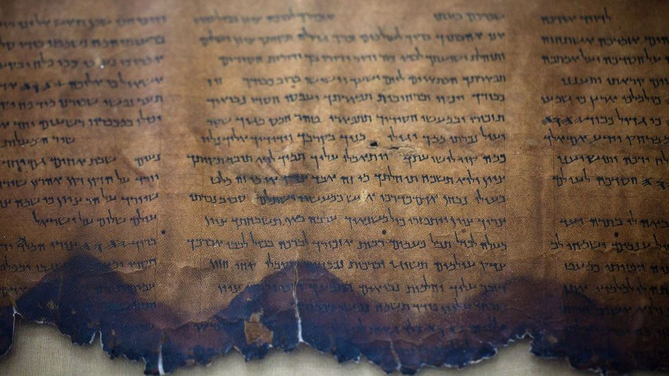 Discovered more than 60 years later, the Dead Sea Scrolls bore a striking resemblance to Shapira's manuscript (Credit: Uriel Sinai/Getty Images)