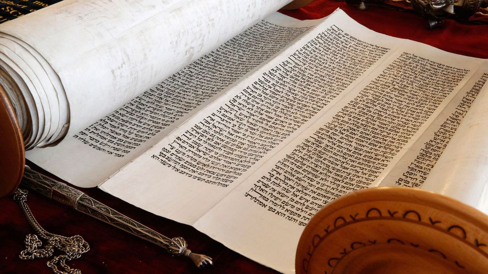 Bible scholar Christian David Ginsburg believed Shapira had forged the manuscript using pieces of an old Torah scroll (Credit: Godong/Getty Images)