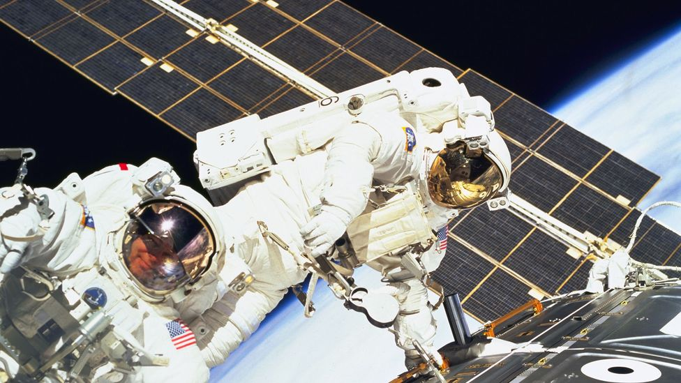 Astronauts conducting spacewalk (Credit: Nasa)