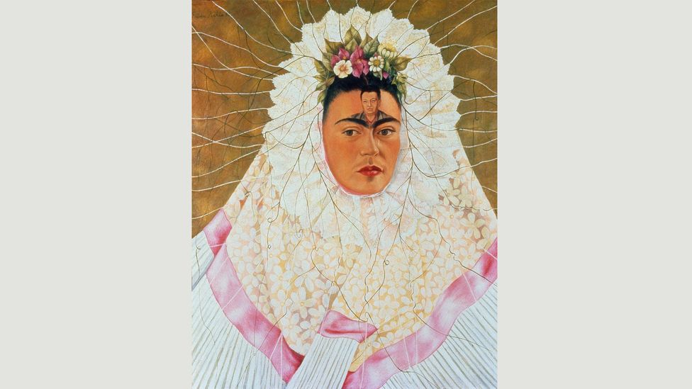 Self-Portrait as Tehuana (1943) is often referred to as 'Diego on my mind' (Credit: Banco de México Diego Rivera Frida Kahlo Museums Trust, Mexico, DF/DACS 2017)