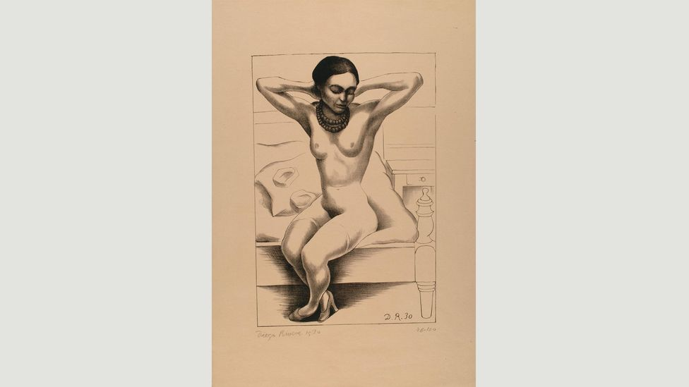 Rivera made Seated Nude with Raised Arms (Frida Kahlo) in the first year of their marriage (Credit: Banco de México Diego Rivera Frida Kahlo Museums Trust, Mexico, DF/DACS 2017)
