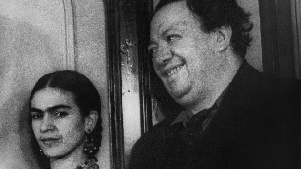 When Kahlo and Rivera married, her parents called them 'the elephant' and 'the dove' (Credit: Alamy)
