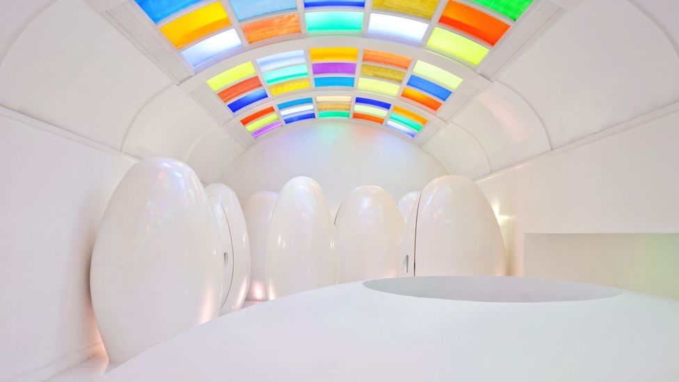 The attention-grabbing design of the toilets in London's Sketch restaurant is often posted on social media, cementing its status as a quirky destination (Credit: Getty Images)