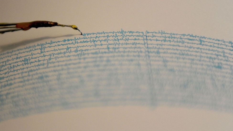 Large ocean waves produce tremors on the sea floor that can be picked up by seismographs around the world (Credit: PEDRO PARDO/AFP/Getty Images)
