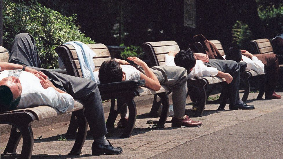 So widespread is the issue of death by overwork in Japan that the victim's family receives government compensation of around $20,000 per year (Credit: Getty Images)