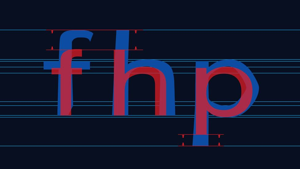 By making the upright sticks on letters longer it reduces the chance of dyslexics confusing them (Credit: Christian Boer)