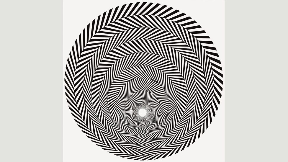 Other loops in Never Ending Stories include hypnotic works like Blaze 4 (1964) by Bridget Riley, which mesmerises with its optical effects (Credit: Bridget Riley)