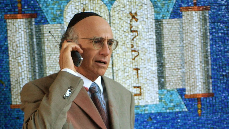 Much of the comedy on the show is derived from Larry's Jewish heritage and his scepticism about religion in general (Credit: HBO)