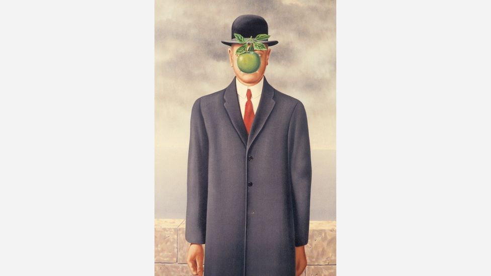 Magritte's The Son of Man, from 1964, is perhaps his best known work of art (Credit: Alamy)