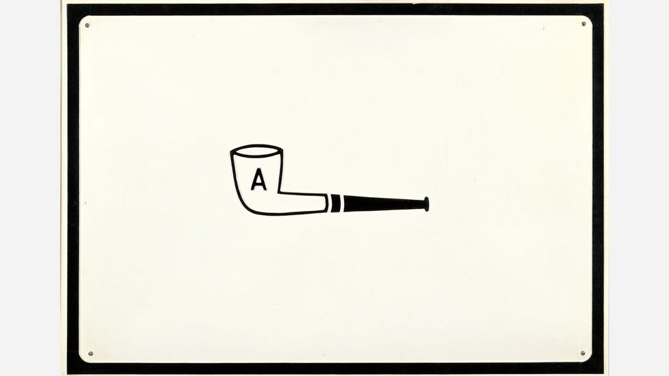Broodthaers took Magritte's conceptual games a step further, though he often still incorporated the image of a pipe (Credit: Getty Images)