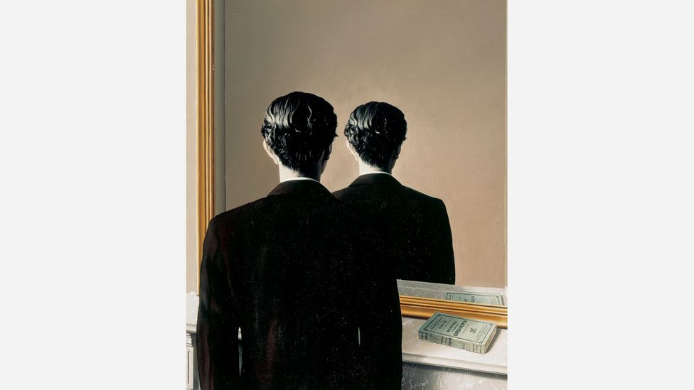 Magritte's Not to Be Reproduced suggests all sight is an illusion (Credit: Charly Herscovici c/o SABAM)
