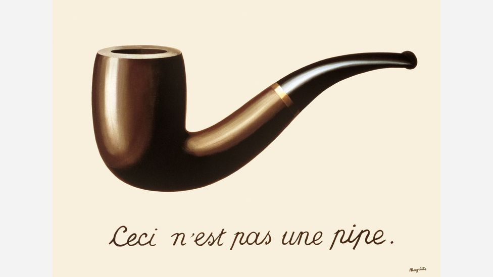 Either the text 'this is not a pipe' is deliberately misleading or it makes us aware of the difference between representation and actuality (Credit: Succession Magritte c/o SABAM)