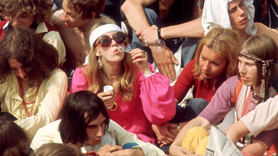 Boomer music fans gather in Hyde Park to see the Rolling Stones in concert in 1969  (Credit: Getty Images)