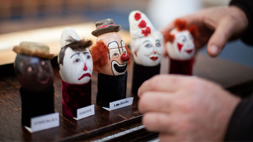 Mattie Faint, a professional clown, ensures his eggs are kept safe in the museum he curates (Credit: Javier Hirschfeld)
