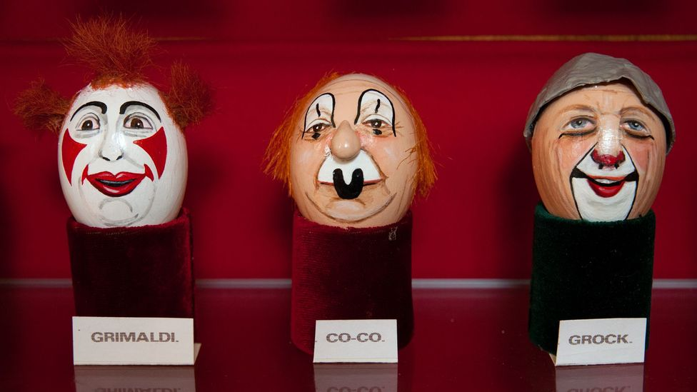 The greatest clowns of their eras have their designs memorialised using the eggs (Credit: Javier Hirschfeld)