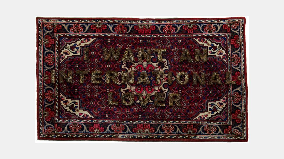 Germany's Anahita Razmi uses Persian rugs in installation pieces dealing with her identity (Credit: Anahita Razmi)