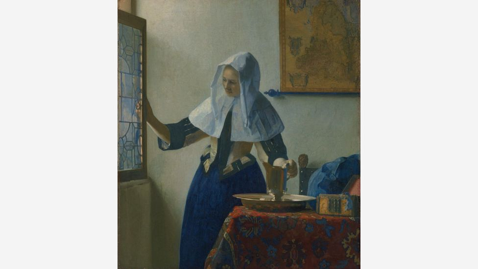 In Vermeer's Young Woman with a Water Pitcher (c. 1662) the pitcher in question rests on a textured Persian carpet (Credit: The Metropolitan Museum of Art)