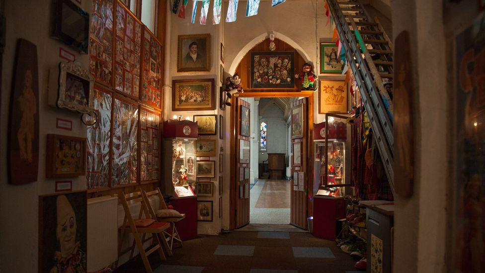 The Clown's Church is packed with memorabilia, art and props (Credit: Javier Hirschfeld)