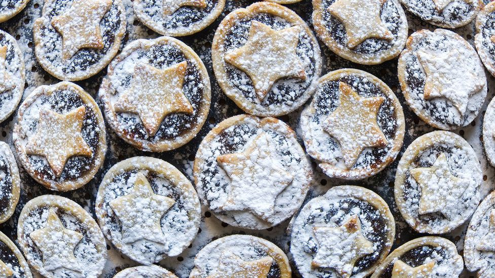 Early mince pies were much bigger than modern treats - and had a sweet and savoury meat-based filling (Credit: Alamy)