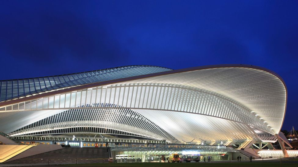The Liège-Guillemins station by architect Santiago Calatrava is one of a new generation of boldly-designed train stations (Credit: Getty Images)