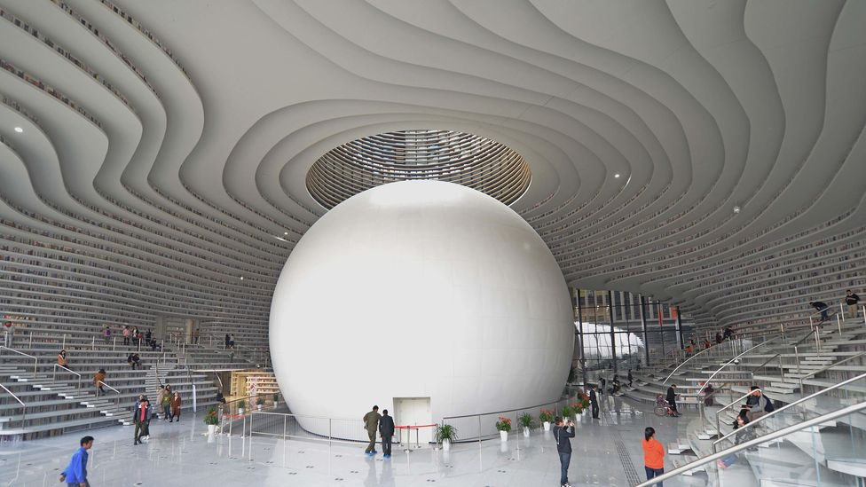 The swirling hall is five-stories high (Credit: Alamy)