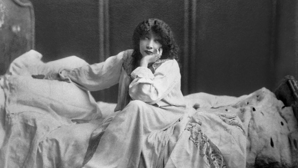 Bernhardt kept portraying young women in romantic melodramas as she aged, such as in this production of Camille in 1913 when she was 68 (Credit: Pictorial Parade/Getty Images)